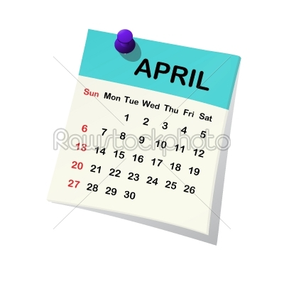 stock vector: 2014 calendar for april-Raw Stock Photo ID: 26223