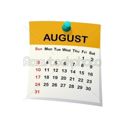 stock vector: 2014 calendar for august-Raw Stock Photo ID: 26224
