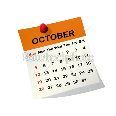 stock vector: 2014 calendar for october-Raw Stock Photo ID: 26233