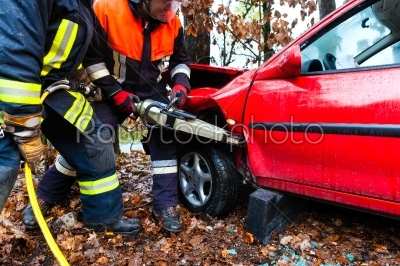 stock photo: accident  fire brigade rescues victim of a car-Raw Stock Photo ID: 46754