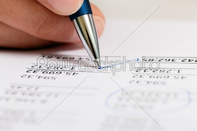stock photo: accountant working on numbers-Raw Stock Photo ID: 39206