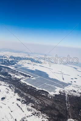 stock photo: aerial photo of solar power plant-Raw Stock Photo ID: 10020
