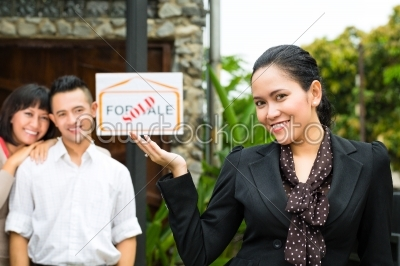 stock photo: asian couple looking for real estate-Raw Stock Photo ID: 44162