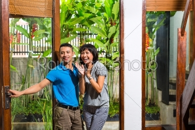 stock photo: asian couple moving in the new home-Raw Stock Photo ID: 44172