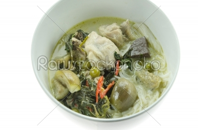 stock photo: asian green curry-Raw Stock Photo ID: 25659