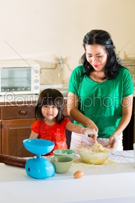 stock photo: asian mother and daughter at home in kitchen-Raw Stock Photo ID: 44219