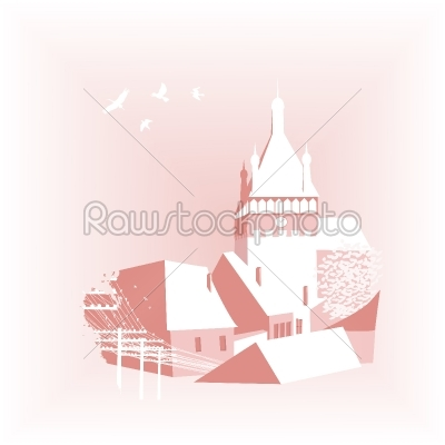 stock vector: background with castle-Raw Stock Photo ID: 24085