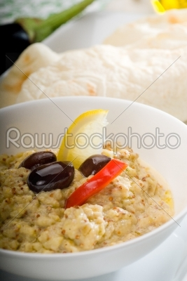 stock photo: badingian mutabbal baba ghanoush-Raw Stock Photo ID: 37549
