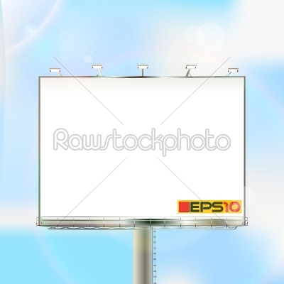 stock vector: billboard on a sunny sky-Raw Stock Photo ID: 24123