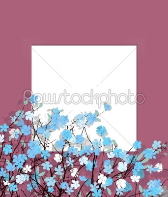 stock vector: blue flowers card-Raw Stock Photo ID: 24148
