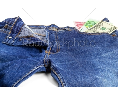 stock photo: bluejeans and money-Raw Stock Photo ID: 30367