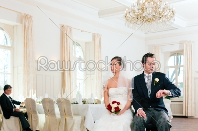 stock photo: bridal couple waiting for ceremony-Raw Stock Photo ID: 41682