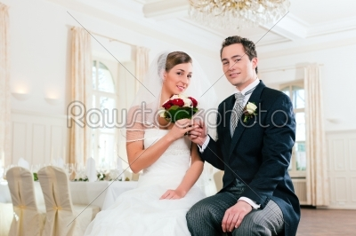 stock photo: bridal couple waiting for ceremony-Raw Stock Photo ID: 41684