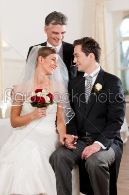 stock photo: bridal couple waiting for ceremony-Raw Stock Photo ID: 41685