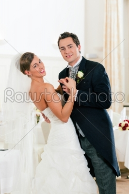 stock photo: bride and groom dancing the first dance-Raw Stock Photo ID: 41635