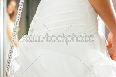 stock photo: bride at the clothes shop for wedding dresses-Raw Stock Photo ID: 41585