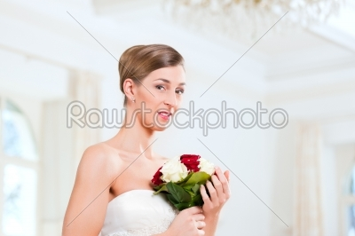 stock photo: bride with bridal bouquet-Raw Stock Photo ID: 41676
