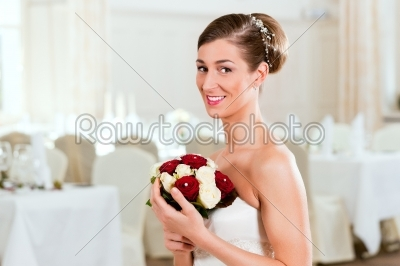 stock photo: bride with bridal bouquet-Raw Stock Photo ID: 41677