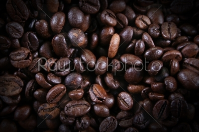 stock photo: brown coffee beans closeup of coffee beans for background-Raw Stock Photo ID: 28610