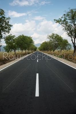 stock photo: bulgarian road with a beautiful sky -Raw Stock Photo ID: 10143
