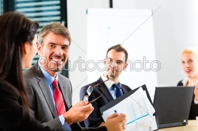 stock photo: business  businesspeople have team meeting-Raw Stock Photo ID: 46968