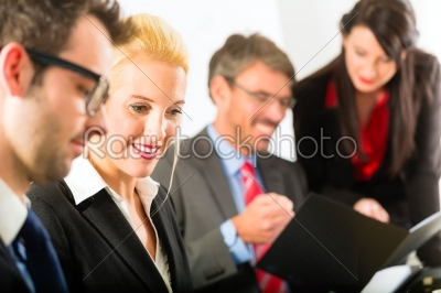 stock photo: business  businesspeople meeting and presentation in office-Raw Stock Photo ID: 46915