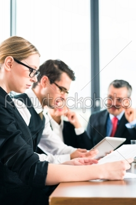 stock photo: business  meeting in office team working with tablet-Raw Stock Photo ID: 38436
