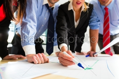 stock photo: business  people in office working as team-Raw Stock Photo ID: 46975