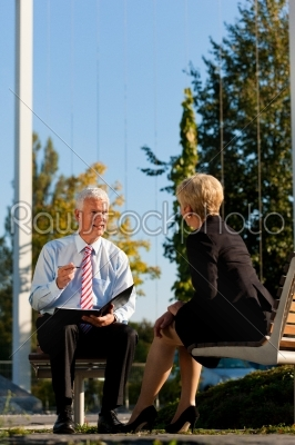 stock photo: business coaching outdoors-Raw Stock Photo ID: 43032