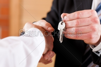 stock photo: business handshake with giving keys-Raw Stock Photo ID: 41253