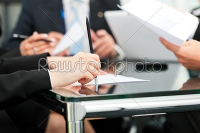 stock photo: business meeting with work on contract-Raw Stock Photo ID: 41822