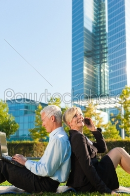 stock photo: business people working outdoors-Raw Stock Photo ID: 40393