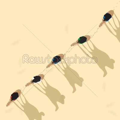 stock vector: camel caravan-Raw Stock Photo ID: 24165