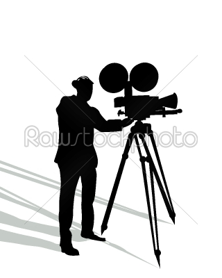stock vector: camera man on white-Raw Stock Photo ID: 24166