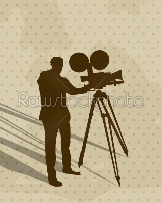 stock vector: camera man-Raw Stock Photo ID: 24167