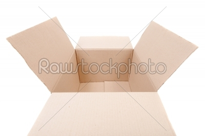 stock photo: cardboard box isolated   -Raw Stock Photo ID: 10456