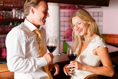 stock photo: casual businesspeople flirting in hotel bar-Raw Stock Photo ID: 39780