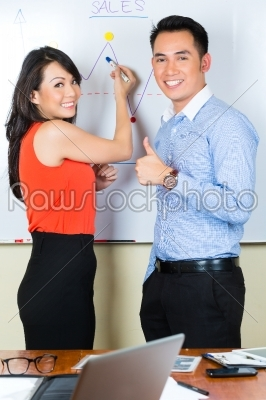 stock photo: chinese team in a advertising agency-Raw Stock Photo ID: 45665
