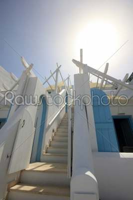 stock photo: classical greek architecture of the streets in oia-Raw Stock Photo ID: 12819