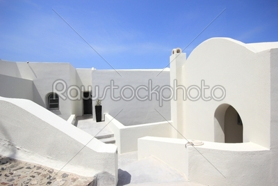 stock photo: classical greek architecture of the streets in oia-Raw Stock Photo ID: 13415