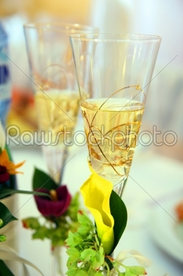 stock photo: close up of detail on wedding breakfast dining table-Raw Stock Photo ID: 28418