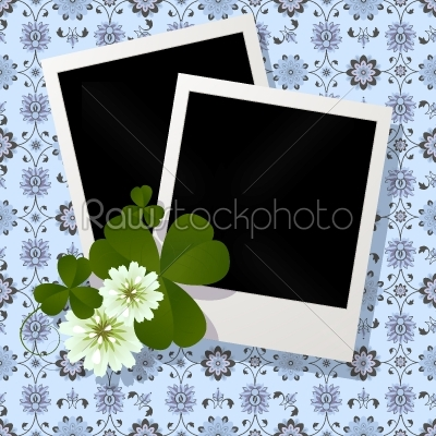 stock vector: clover leaf and flowers design-Raw Stock Photo ID: 24268