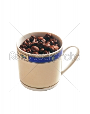 stock photo: coffee beans cup-Raw Stock Photo ID: 30431