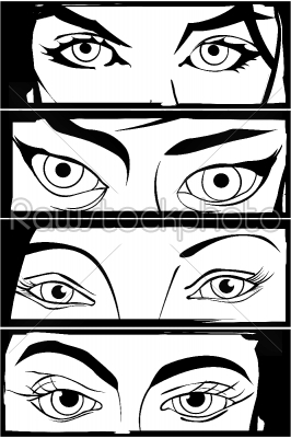stock vector: comic eyes-Raw Stock Photo ID: 24289