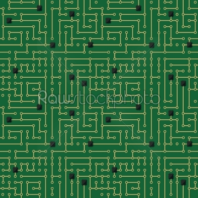 stock vector: computer circuit board pattern-Raw Stock Photo ID: 34362