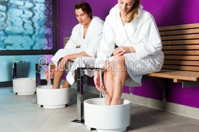 stock photo: couple having hydrotherapy water footbath-Raw Stock Photo ID: 43709