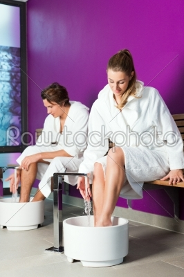 stock photo: couple having hydrotherapy water footbath-Raw Stock Photo ID: 43711