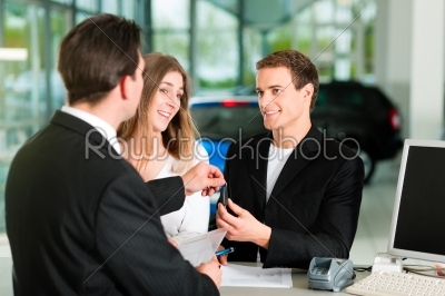 stock photo: couple signing sales contract at car dealer-Raw Stock Photo ID: 39590