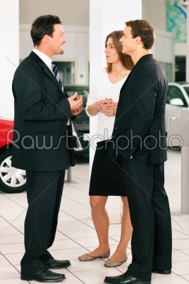 stock photo: couple with salesman at car dealer -Raw Stock Photo ID: 39554
