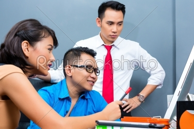 stock photo: creative business asia  team meeting in office-Raw Stock Photo ID: 45679